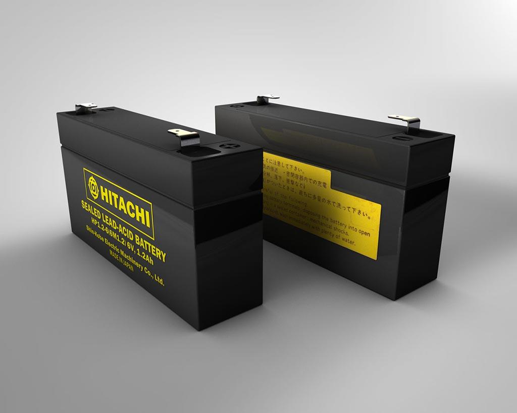 Batteria al piombo sigillata da 6v 3D