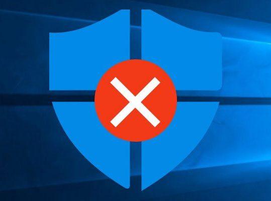 Windows defender disabilitato dall'amministratore di sistema